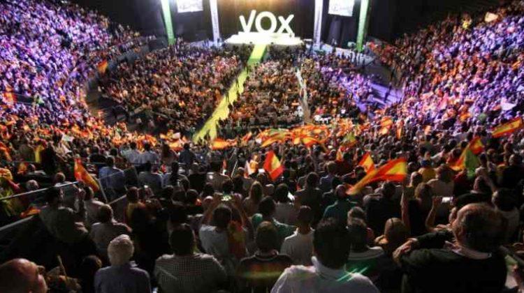 Mitin de Vox en Vistalegre.
