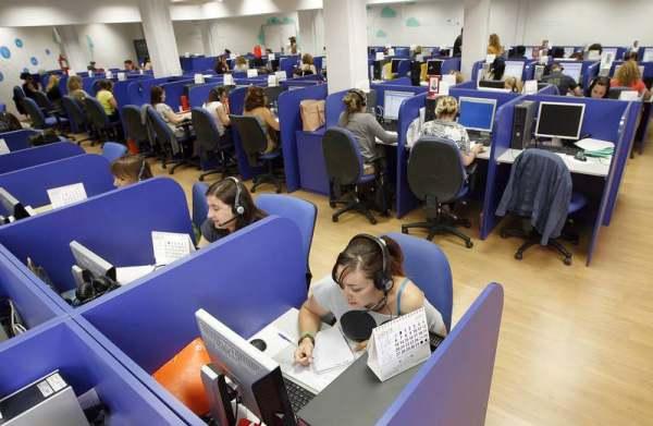 Trabajadores de Telemárketing.