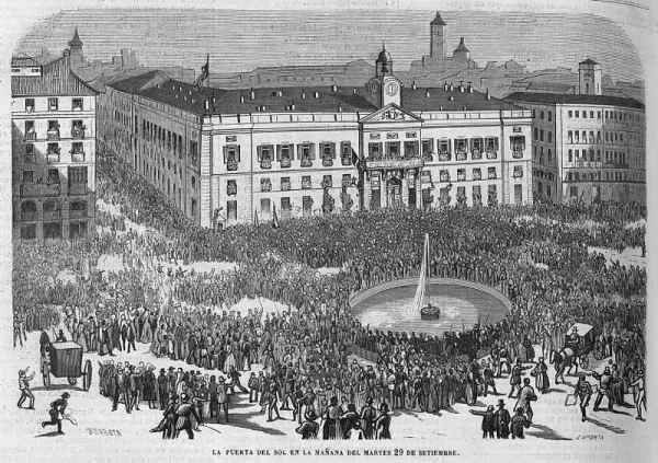 Revolucion de 1868. Madrid. Puerta del Sol
