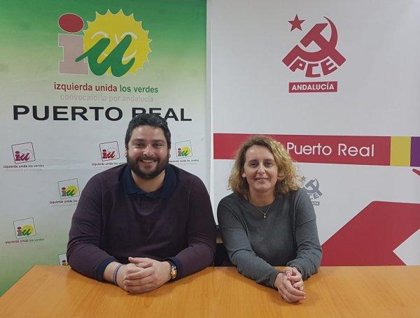 José Alfaro y Aurora Salvador, de Izquierda Unida.
