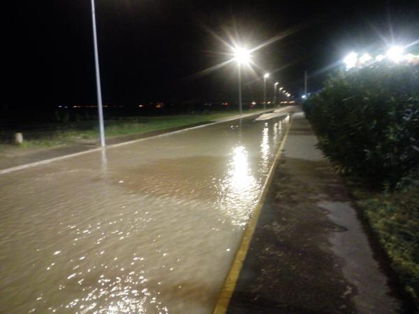 Inundación en Tres Caminos.