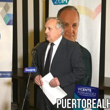 Vicente Fernández, al inicio de su discurso.
