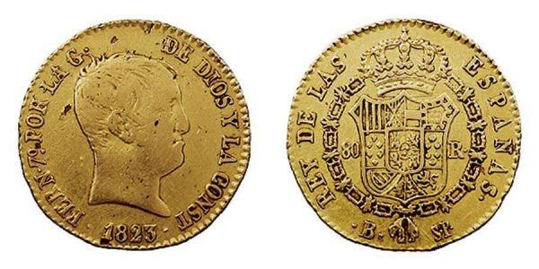Monedas de Fernando VII, rey constitucional
