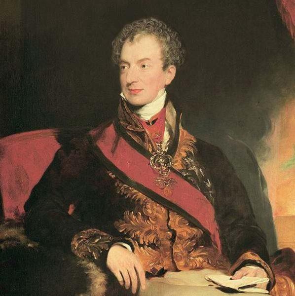 El austríaco príncipe de Metternich, artífice de la Santa Alianza