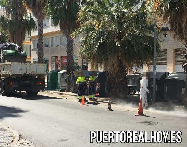 Limpieza viaria de Puerto Real.