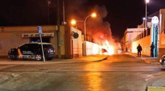 Incendio en la calle Rosario