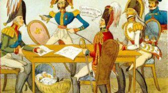 Caricatura del Congreso de Verona de 1822.