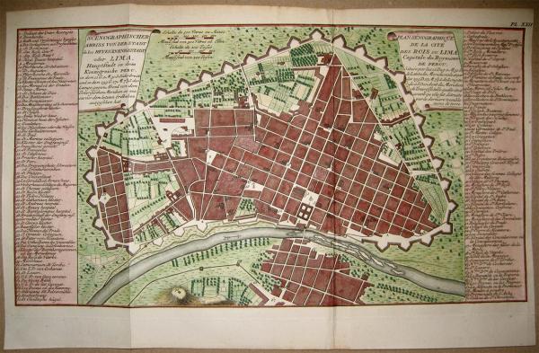 Plano de la ciudad de Lima (Perú)