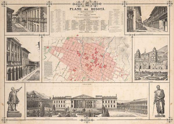 Plano de la Ciudad de Bogotá en 1890.