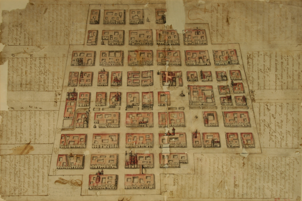 Plano de la Ciudad de México en 1720.