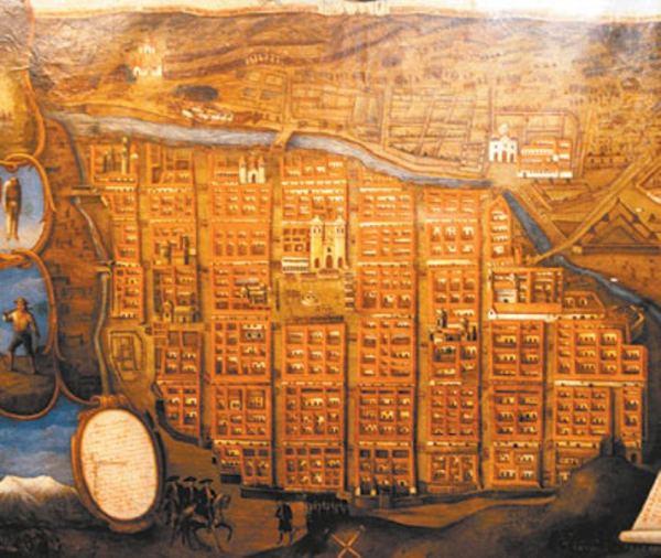 Plano de la Ciudad de La Paz en 1781.