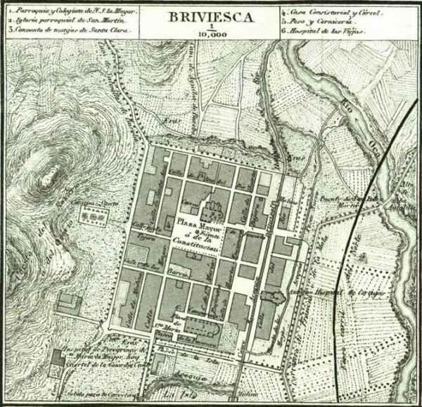 PLANO DE BRIVIESCA. 1868