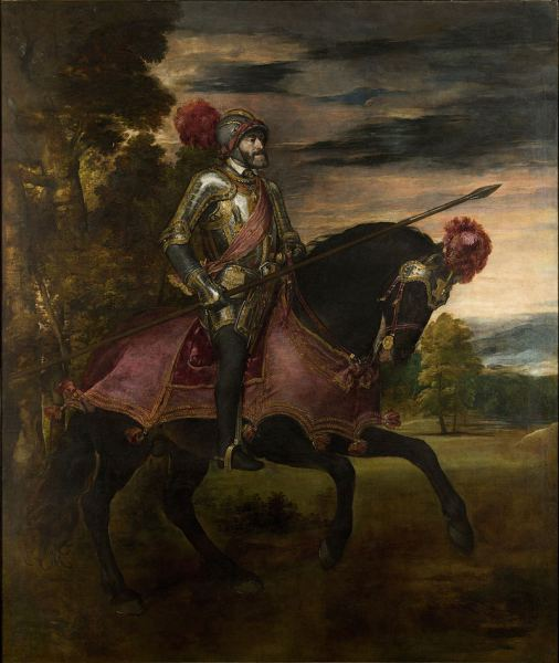 Carlos V en Muhlberg por Tiziano